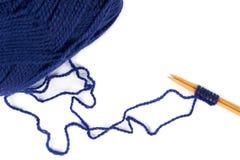 Knitting at the beginning Stock Photos
