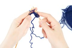Knitting begins Royalty Free Stock Image