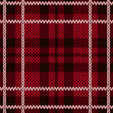 Knitting checkered seamless pattern mainly in red hues Royalty Free Stock Photos