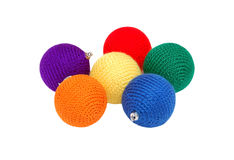 Knitting Christmas ball Stock Images