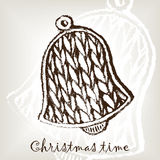 Knitting christmas bell Royalty Free Stock Photo