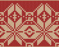 Knitting christmas seamless pattern with a Royalty Free Stock Image