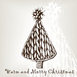 Knitting christmas tree Stock Images