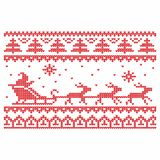 Knitting. Christmas vector background. Deers and snow stock illustration