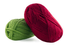 Knitting, colored skeins Royalty Free Stock Image