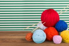 Knitting craft Stock Images