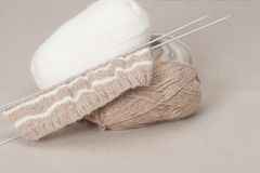 Knitting Craft Kit. Hobby Accessories.  Royalty Free Stock Image