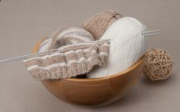Knitting Craft Kit. Hobby Accessories.  Stock Photos