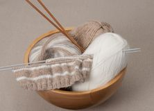 Knitting Craft Kit. Hobby Accessories.  Stock Photography
