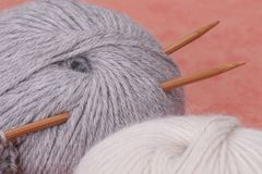 Knitting Craft Kit. Hobby Accessories Royalty Free Stock Images