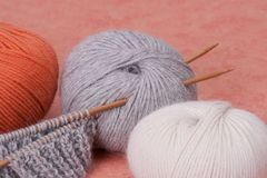 Knitting Craft Kit. Hobby Accessories.  Stock Image
