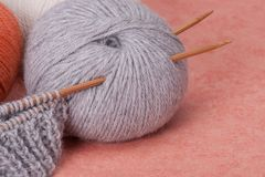 Knitting Craft Kit. Hobby Accessories Royalty Free Stock Photo