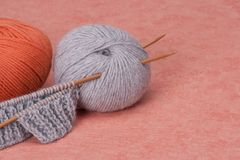 Knitting Craft Kit. Hobby Accessories Stock Photography