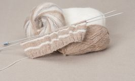 Knitting Craft Kit. Hobby Accessories Stock Images