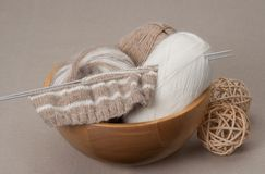 Knitting Craft Kit. Hobby Accessories Royalty Free Stock Photography