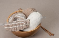 Knitting Craft Kit. Hobby Accessories Royalty Free Stock Photos