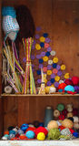 Knitting and crochet still life Stock Images