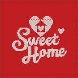 knitting De VectorAchtergrond van Kerstmis Zoet Huis vector illustratie