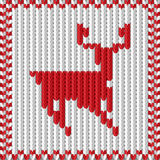 Knitting with a deer. Vector illustration of a knitting with a deer Stock Photo