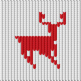 Knitting with a deer. Vector illustration of a knitting with a deer Stock Image