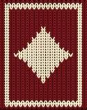 Knitting diamonds poker card, vector Royalty Free Stock Photos