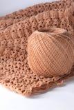 Knitting dress and wool Stock Image