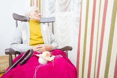 Knitting for family Royalty Free Stock Images
