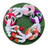 Knitting garland Royalty Free Stock Photography