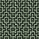 Knitting geometrical seamless pattern in muted colors Royalty Free Stock Image