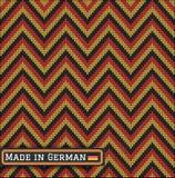 Knitting German colors pattern sweater battlement Royalty Free Stock Photos