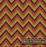 Knitting German colors pattern sweater battlement2. Fair Pattern sweater italian design on the wool knitted texture. Seamless Knitting Ornament. Germany flag Royalty Free Stock Image