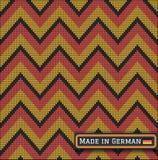 Knitting German colors pattern sweater battlement2 Royalty Free Stock Image