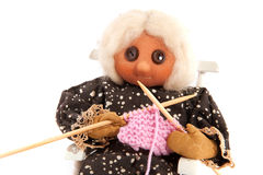 Knitting grandma Stock Image