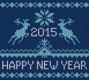 Knitting greeting card Royalty Free Stock Image