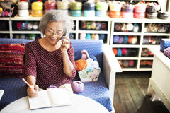 Knitting Handcraft Leisure Activity Recreational Pursuit Retirem Royalty Free Stock Image