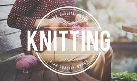 Knitting Handicraft Talent Hobby Creativity Concept Royalty Free Stock Photos