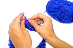 Knitting Hands Stock Image