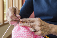 Knitting Hands Stock Photos