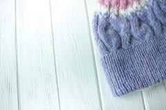 Knitting hat Royalty Free Stock Image
