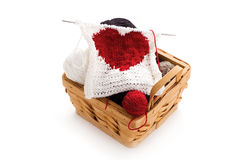Knitting heart Stock Photography