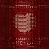 Knitting heart Stock Photo