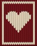 Knitting hearts poker card, vector Stock Photography