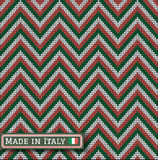 Knitting Italy colors pattern sweater battlement Royalty Free Stock Photo