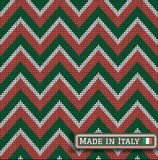 Knitting Italy colors pattern sweater battlement2 Royalty Free Stock Images