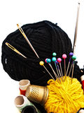 Knitting items Stock Images