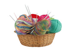Knitting kit Royalty Free Stock Photo