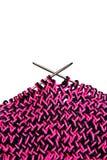 Knitting on knitting needles Stock Photo