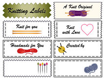 Knitting Labels Stock Photo