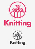 Knitting logo Royalty Free Stock Images