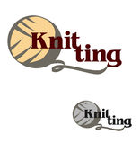Knitting logo Royalty Free Stock Photography